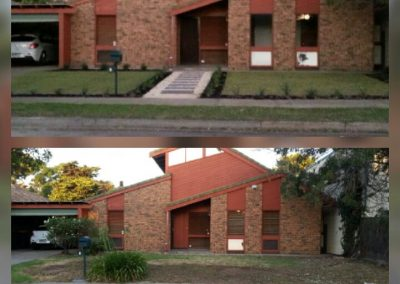Before & After - One of the instant lawns laid by us in a Mount Barker client's home